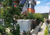 Blick auf den Garten vion außen (Osten)