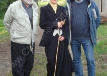 einer der Prüfer: Jo Kessler, in der Mitte: Dr. Martina Reide und Lehrgangsleiter Desmond O Brien ganz rechts