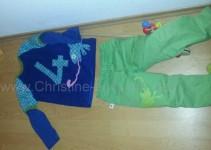 Krone kreativberg, Geburtstagsshirt Brave Firemen 110 (über langärmligem gekauftem Shirt). Pull-on-Pants 110