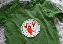 grünes Hummer-Shirt