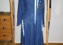 blaues Ritterfestspielkleid von hinten