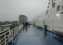 Auf dem Schiff - Nieselwetter
