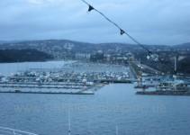 der Hafen von Oslo in Sicht