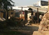 ein Bauernhof am Straßenrand (bei Agra)