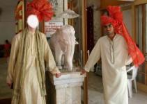 Posieren mit Turban