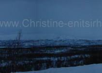 wunderbares Lappland-Panorama
