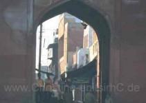 Ein Nebenhof beim Taj Mahal