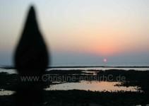 Sonnenuntergang überm Meer bei Mumbai