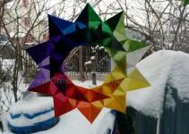 ein neuer Stern - etwas ungenaues 5-Eck als Grundlage leider