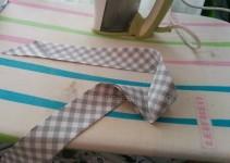 Schrägband herstellen und bügeln