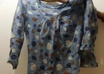 die Vorlagen-Bluse (leider ungewaschen- und gebügelt)