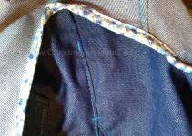 Riegel am Tascheneingriff und an der Seitennaht