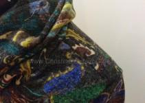 Detail mit Fadenrest