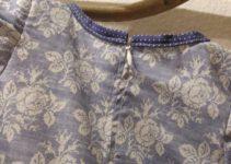 Detail Kragen und Reißverschluss
