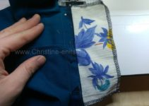 Taschenbeutel an obere Nahtzugabe Paspeltasche