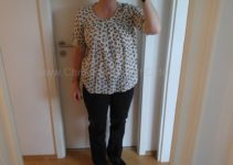 Schwalbenbluse an Ginger frontal