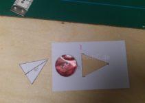 Schablone für dreieckiges Paspelkopfloch