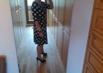 Das Kleid seitlich