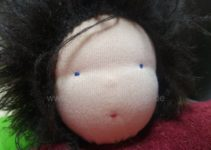 Detail Gesicht Frotteepuppe