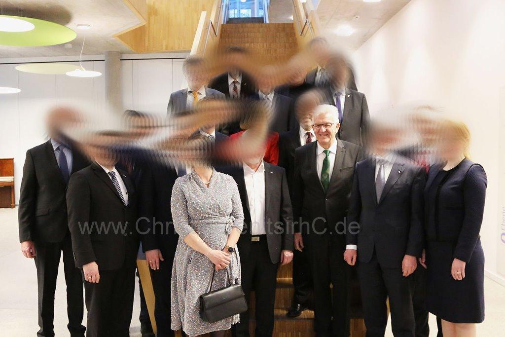 Gruppenbild mit MP (ich vorn mittig)