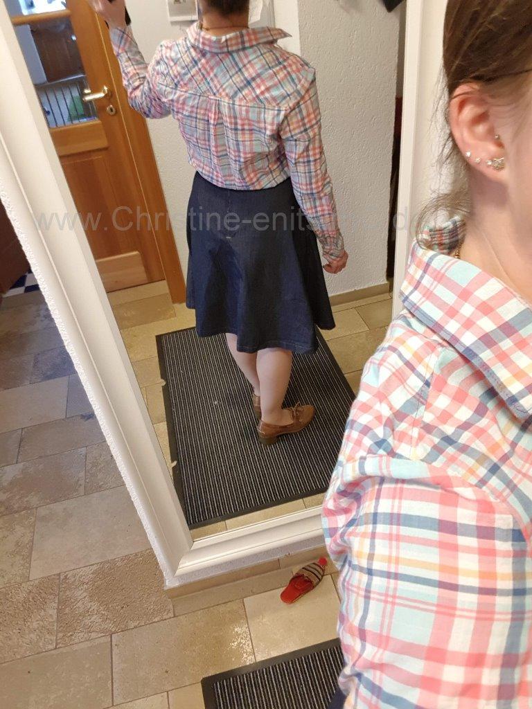 Baustellen-Outfit noch ohne Riegel am RV